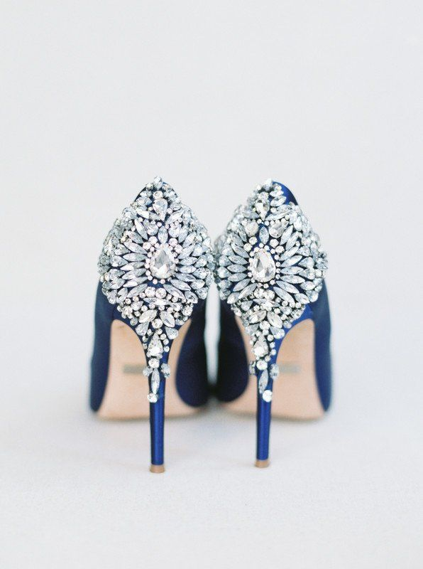 Blue Wedding Shoes For Bride Embellished Heels Stella Yang Photography Casual Wedding Shoes Bride Shoes Cheap Wedding Shoes