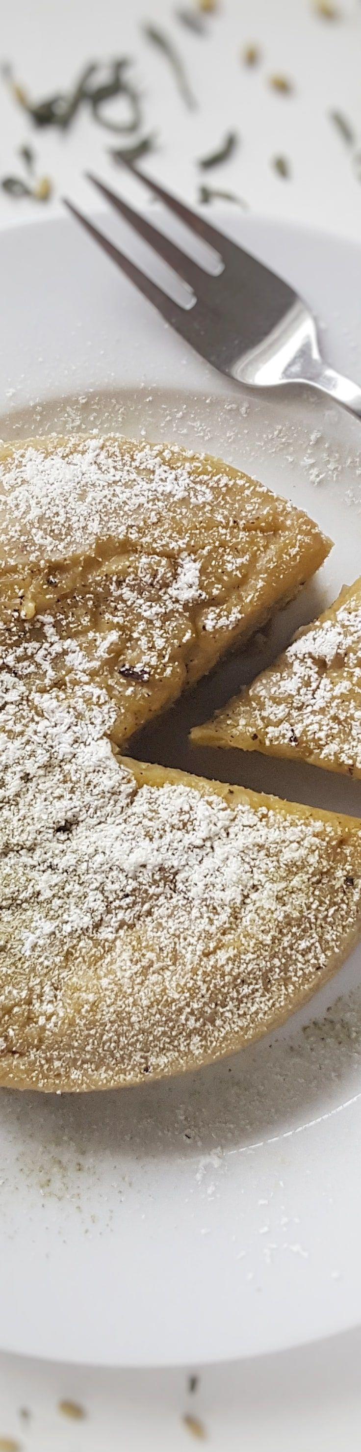 Reistee Kuchen mit Genmaicha