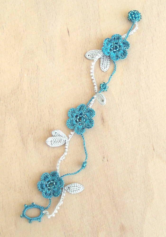 Türkische OYA Lace Armband Mary 4 Farben gehäkelten Schmuck   – Crochet Jewelry