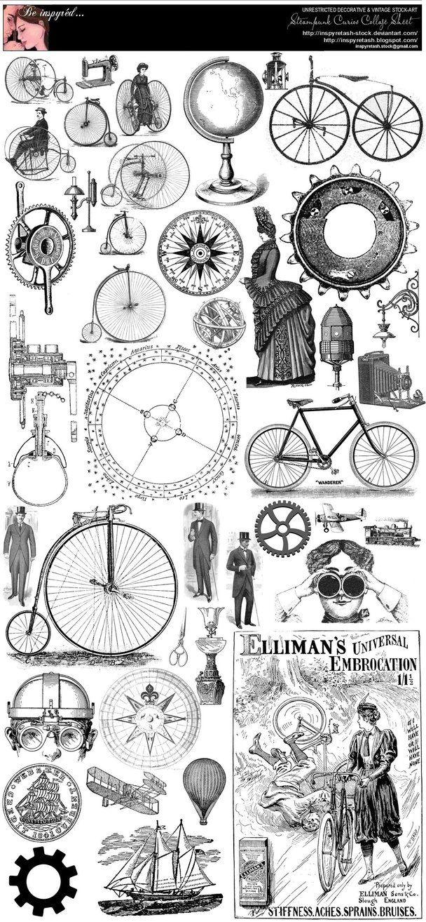Steampunk Curios Collage Sheet by *Beinspyred on deviantART