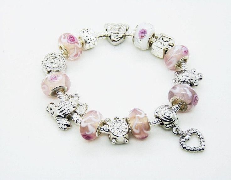 925 sterling silver bangles beads bracelet //Price: $9.95 & FREE Shipping //     #bracelets #pretty