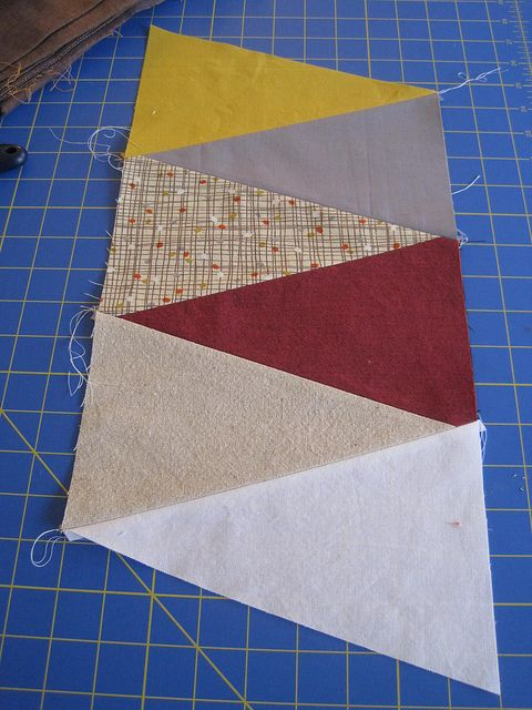 How To Make A Triangle Quilt Quickly Tutorial By Molly Flanders