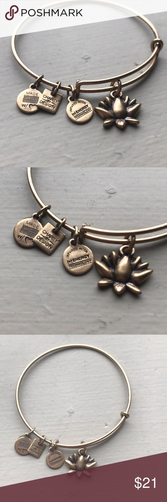 "NEW ""Lotus Blossom Charm Bangle"" Alex and Ani  This bracelet is in great condition and has never been worn!  Selling for 25% off retail price ✨ Alex & Ani Jewelry Bracelets"