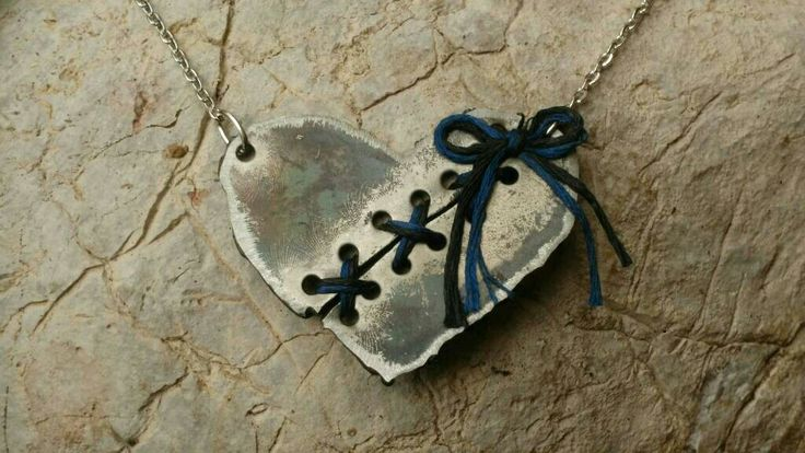 Excited to share the latest addition to my #etsy shop: Dragon Fire Heart Necklace - Dramatic Broken Heart - Heavy Metal - handmade #jewelry #necklace #silver #steel #blue #lovefriendship #heart #forged #brokenheart #romantic #handmade #wearableart http://etsy.me/2yJy4uB