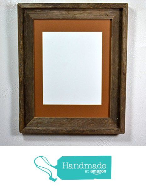 11x14 barnwood frame with mat for 8x109x12 or 8x12 from recycled wood from barnwood4u
