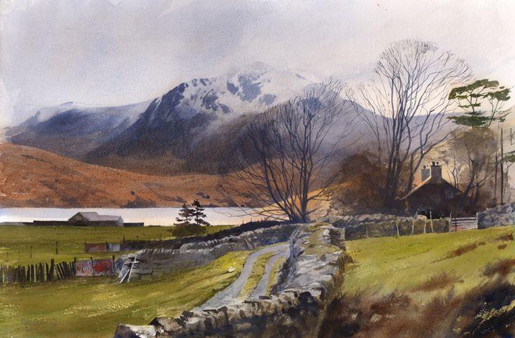 Tal y Llyn, Ogwen, an original watercolour painting by Rob Piercy
