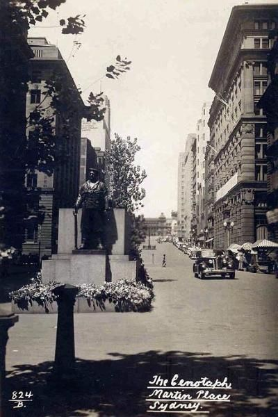 Martin Place, Sydney NSW. To see all our old postcards of Australia, visit http://oldstratforduponavon.com/australia.html