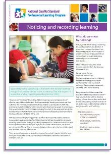 National Quality Standard Professional Learning Program e-newsletter (click to view e-Newsletter PDF)