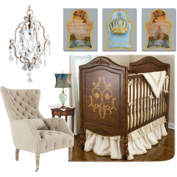 """Royal Baby Nursery, Little Prince, Baby Boy Nursery, Old World"" by errikos-artdesign on Polyvore"