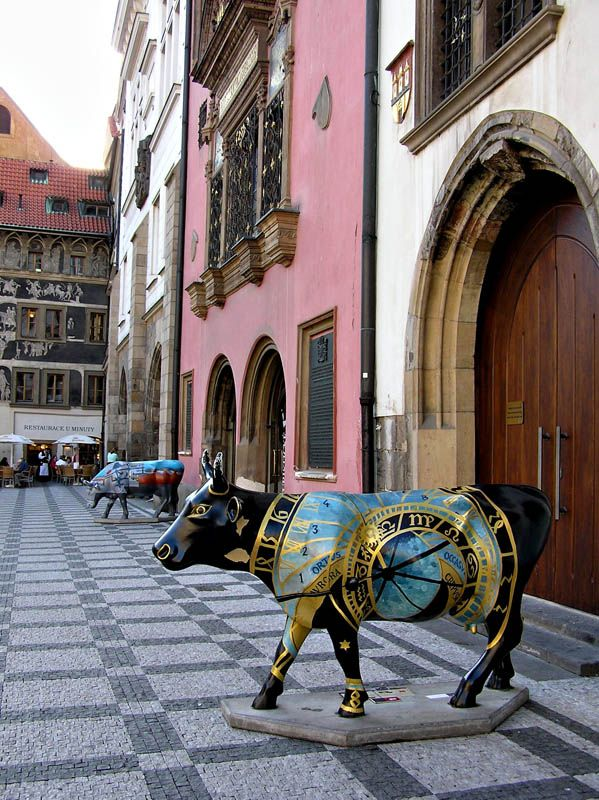 Cow Parade, Prague, Czech Republic by Jackie Larson