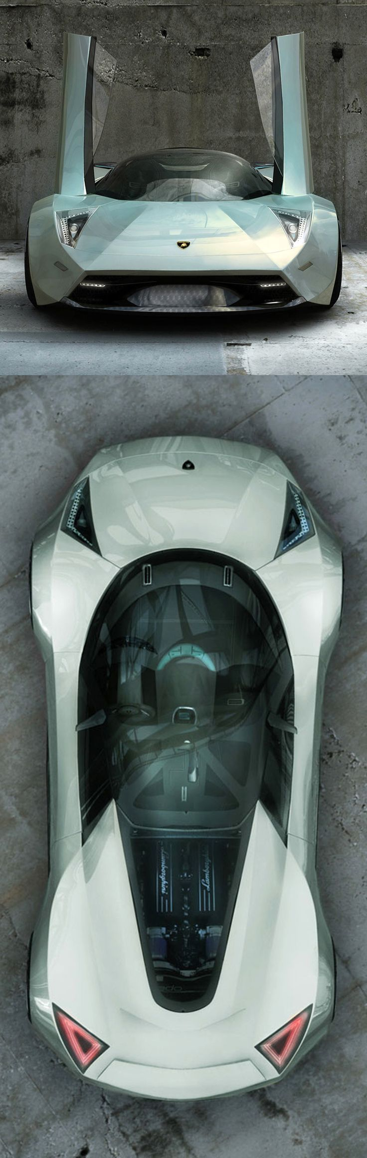 ♂ Lamborghini Insecta Concept car silver from www.carbodydesign...