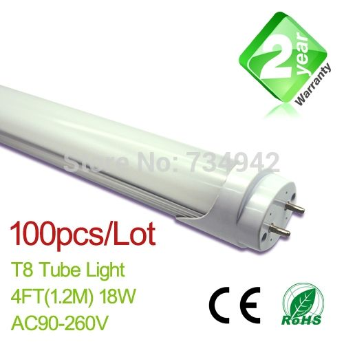 1495.00$  Watch now - http://aivff.worlditems.win/all/product.php?id=32213742305 - Free Shipping 100pcs/Lot 4ft(1200mm) T8 LED Fluorescent Tube Light  18W 1650LM CE & RoHs 2 Year Warranty SMD2835 Epistar