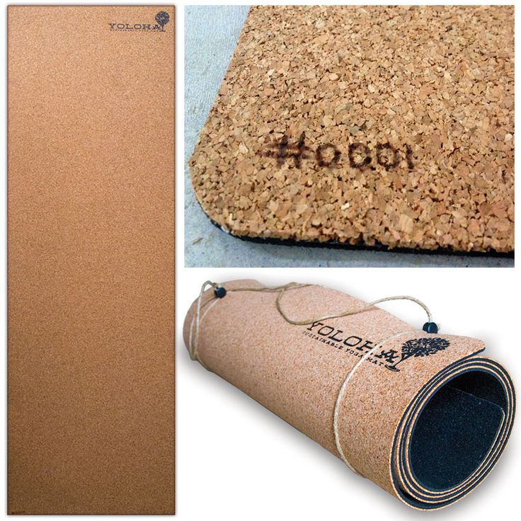 Ever sweat and start slipping on your mat? Cork is comprised of a waxy natural substance called suburin which, when wet becomes even grippier. Never slip again!  Backed with domestically made recycled tires! Heavy duty construction lays flat, and will never slide.   Cork is environmentally friendly, no trees are harmed in the production of cork.   Cork is naturally hypo-allergenic and anti-microbial. No need to wipe clean! Cork naturally kills bacteria, mold, and more.  Handmade in the USA