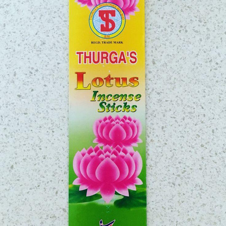 THURGA'S Lotus Incense $3 packet/12 sticks available @ QIncense.com.au