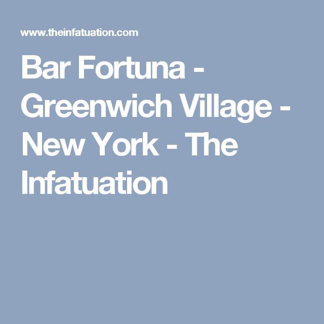 Bar Fortuna   Greenwich Village   New York