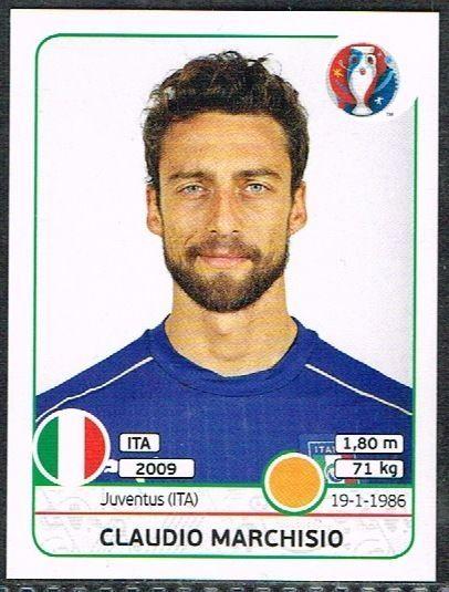 UEFA EURO 2016 Claudio Marchisio Italy - 506 #Panini #stickers #Italy #Marchisio