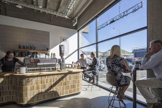 Stylish new cafe, Allpress Esspresso, deisgned by Hamish McCaul of ArchiDesign #ADNZ #architecture #cafe