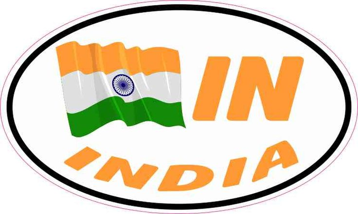 5 x 3 Oval IN India Flag Sticker Vinyl Car Truck Bumper Decal Cup Stickers