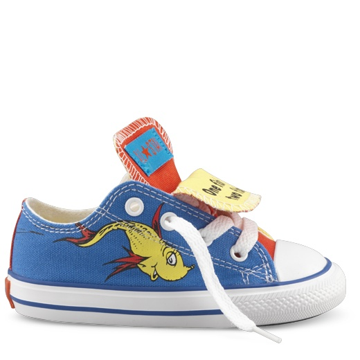 Blue Yellow Dr Seuss Baby Shoes Baby Converse Shoes Converse