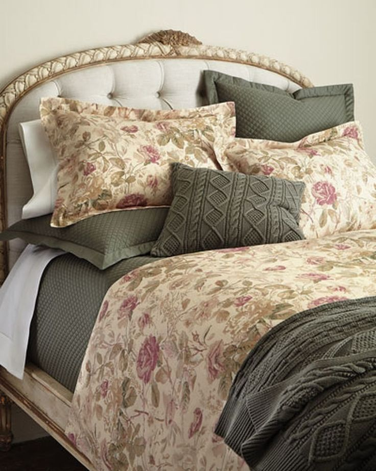 Ralph Lauren Wilton Rose Full Queen Duvet Cover 285