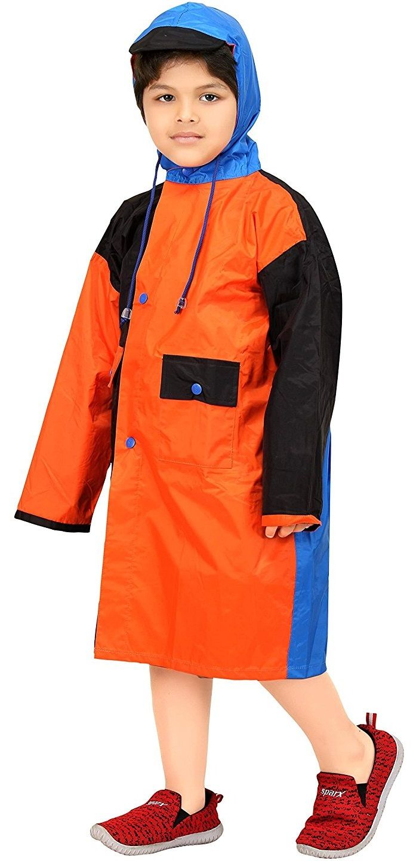 Real Orange & Black Baggy Printed Raincoat #Raincoat