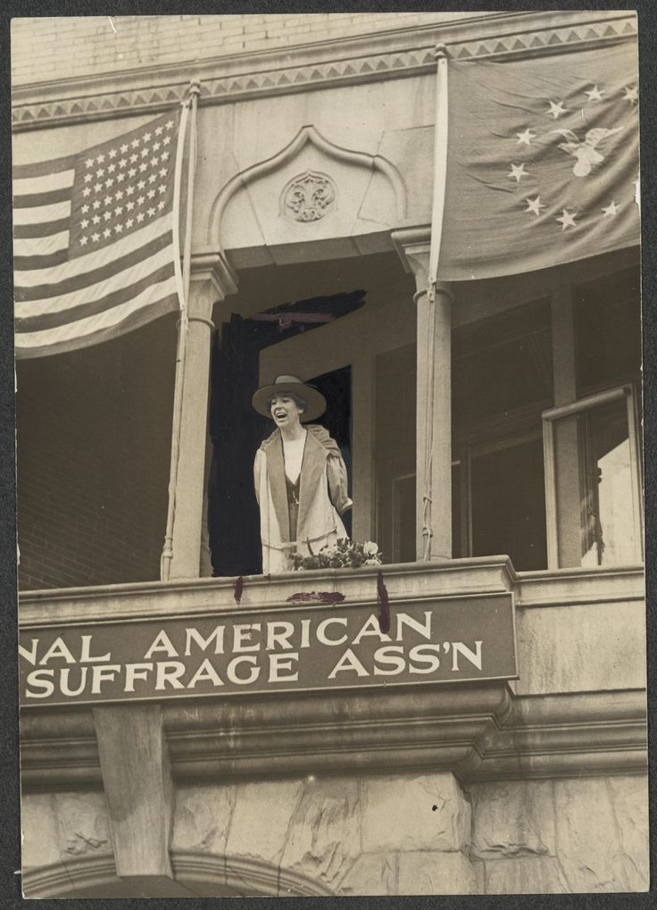 WWI, 2 April 1917, First woman takes seat in Congress, US; Miss Jeannette Rankin, of Montana, speaking from the balcony of the National American Woman Suffrage Association. | Library of Congress