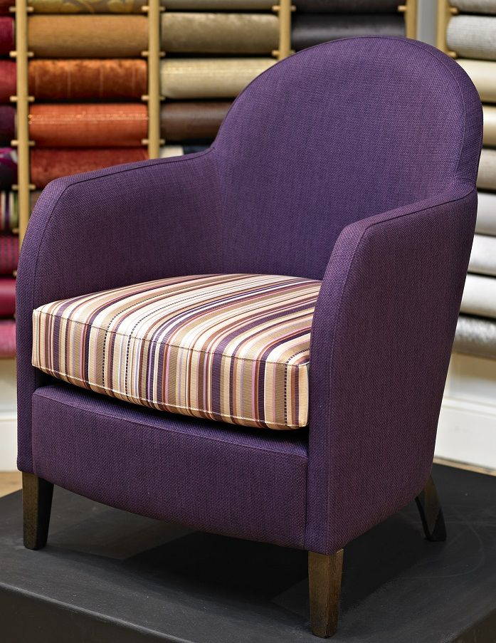 Mix of Tang Print and Harris for a beautiful waterproof, anti-microbial chair.