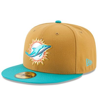 Men's Miami Dolphins New Era Gold Collection 59FIFTY Fitted Hat - Gold