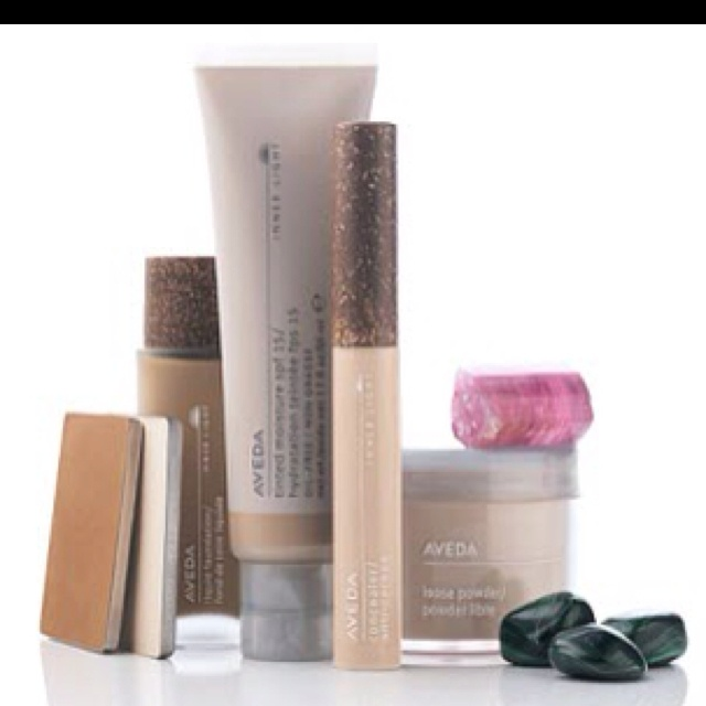AVEDA makeup. Parabin free. Use the tinted moisture for sunscreen and moisturizer in one. Evens out skin tone.