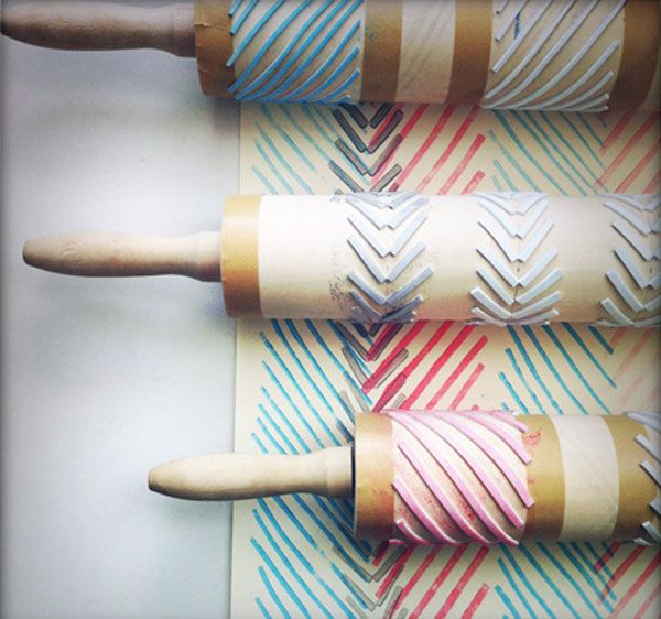 beautiful rolling pin stamps