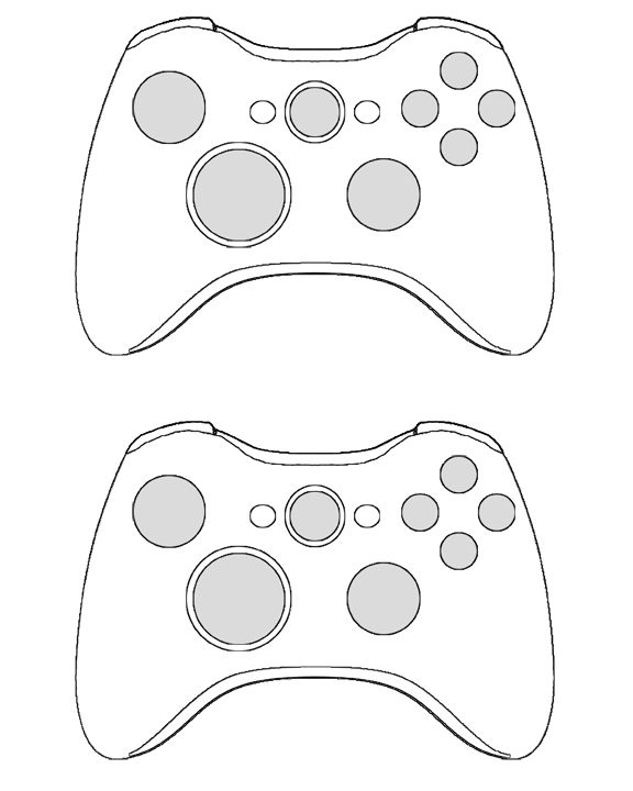 360 Controller Template For The Invites Halo Xbox Bday