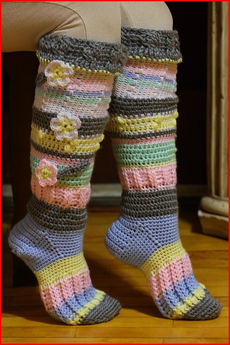 195 best socks images on pinterest knitting patterns knit socks knee high socks free crochet pattern and video tutorial at yarnutopia by nadia fuad bankloansurffo Image collections