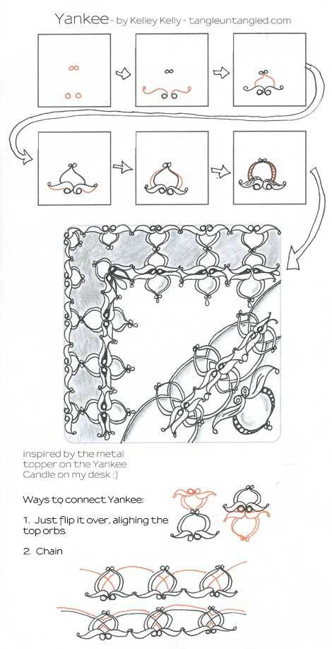 step out for Yankee Zentangle pattern
