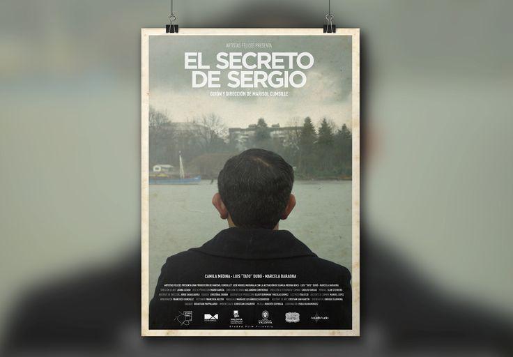 """AFICHE Cortometraje """"El Secreto de Sergio"""" de Marisol Cumsille. Artistas Felices 2014."""