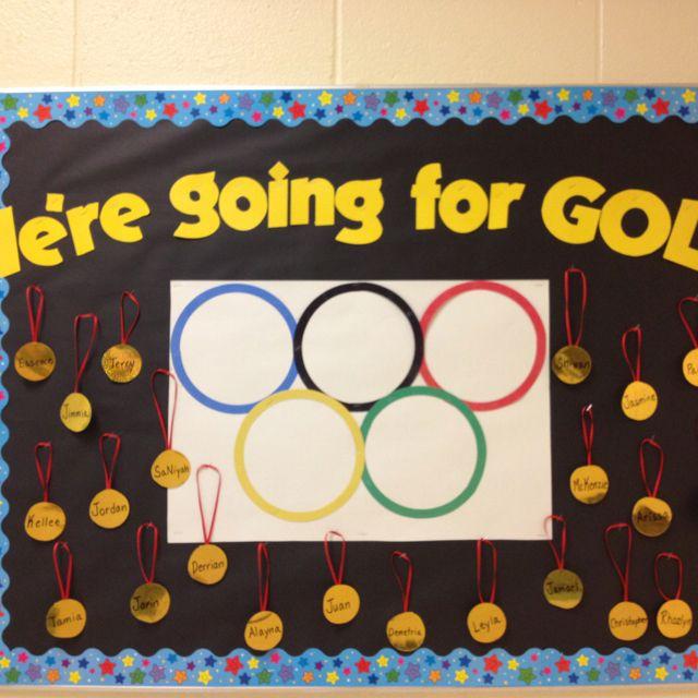 Classroom Olympics Ideas ~ Olympics bulletin board back to school pinterest