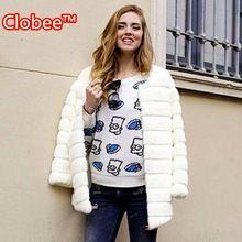 2016 Sonbahar Kış Sıcak Yapay Bayanlar Kadınlar Faux Kürk Yün Ceket Artı Boyutu Palto Siyah Beyaz Giyim 008(China (Mainland))