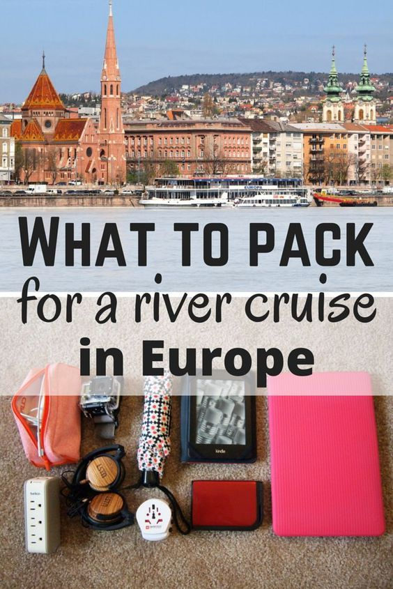 A packing list for a river cruise in Europe.