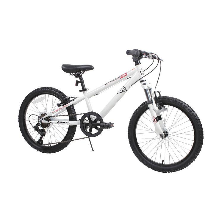 "20"" Boys Mountain Bike Rugged Smooth Shifting Sidewalk Street Off Road WHITE #CDDM"