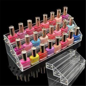 3 Étages Présentoir Support Transparent Vernis à Ongles Rangement Acrylique Boîte Maquillage