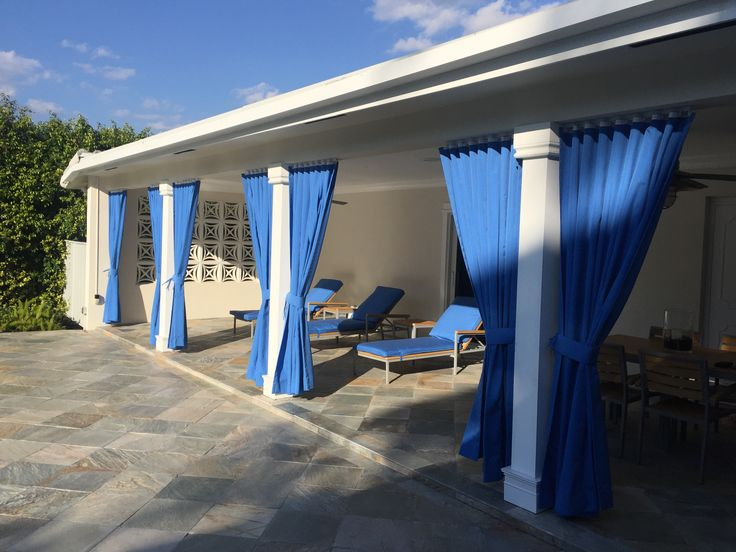 Beautiful Exterior Custom Pinch Pleat Draperies Installed In An Outside  Patio By Shades Creation. #