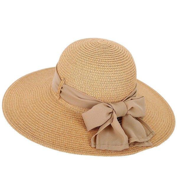 Womens Summer Sun Beach Hat Big Bowknot Wide Brim Straw Hat Upf 50 Nature Ci18c9kkoy5 Wide Brim Straw Hat Summer Hats Beach Wide Brim Sun Hat