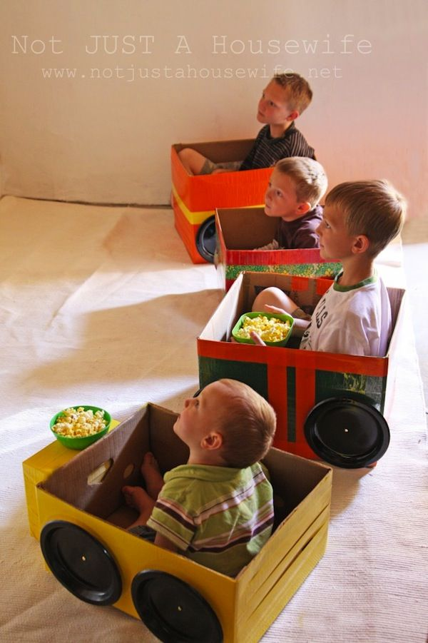Kids Party: Drive-In Movie... Cute! Would be a neat idea for family movie night or sleep over!