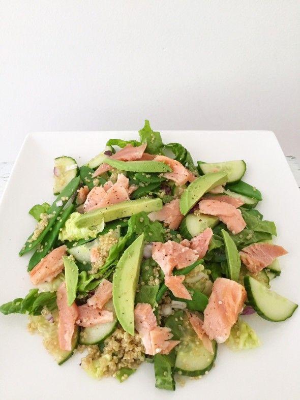 I Love Health | Zalmsalade met quinoa, peultjes en avocado | http://www.ilovehealth.nl