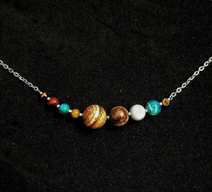 Space Necklace, sci-fi gift, science jewellery, planet Necklace, nerd chain, geek accessories, galaxy minimalist Necklace, solar system by TricksylittleThings on Etsy https://www.etsy.com/uk/listing/523169806/space-necklace-sci-fi-gift-science