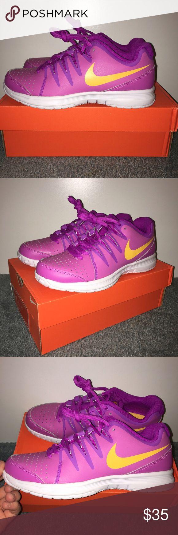 Nike tennis court shoes size 6.5 Brand new  Purple & mango Nike tennis athletic shoes  Women's size 6.5 Women's Nike vapor court Nike Shoes Athletic Shoes
