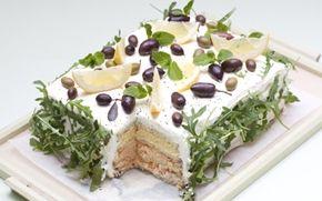 Marokkansk inspireret smørrebrødstærte En anderledes og virkelig smuk tærte med smag af kylling og humus