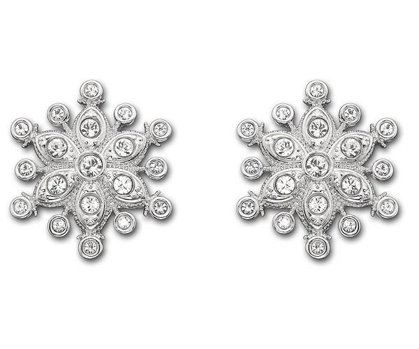 #Sparkling Strawberry Pierced Earrings featuring a winter-inspired motif #Swarovski #wedding