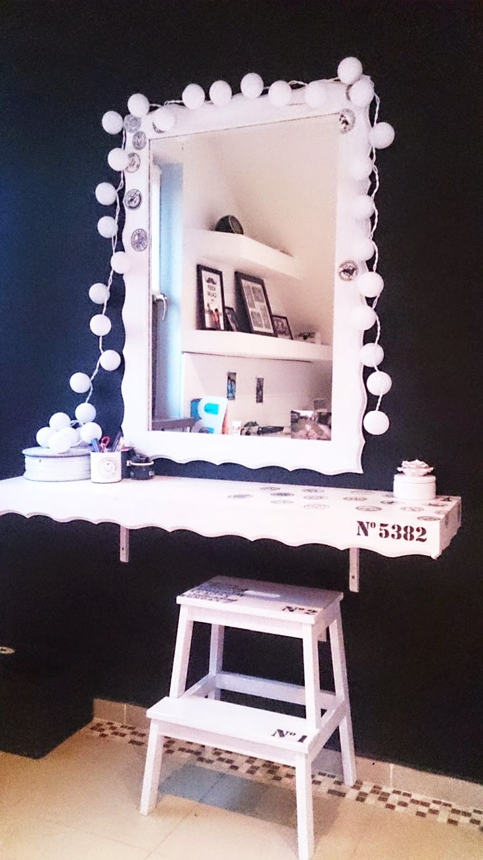 biało czarny pokój,b&w,pokój nastolatki,toaletka DIY,zrób to sam,inspiracje,krok po kroku,blog DIY,wnętrza biało czarne