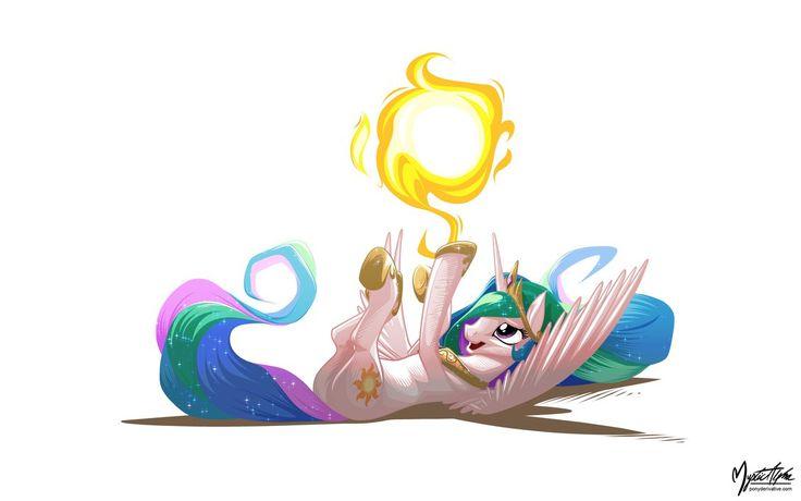Celestia Sun Tumbling by *mysticalpha on deviantART