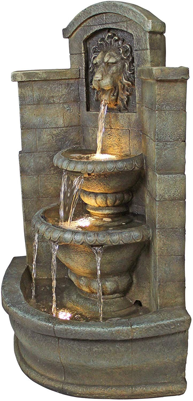 Amazon Com Wall Mounted Water Fountain Casa Del Lago Lion Fountain Outdoor Water Feat Fountains Outdoor Outdoor Water Features Wall Water Fountain Design Wall mounted water fountains outdoor